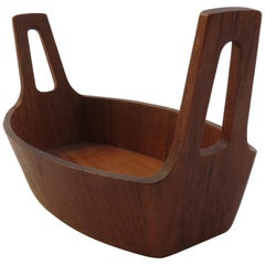 1960s Midcentury Teak Bowl by Anri Form, Italy