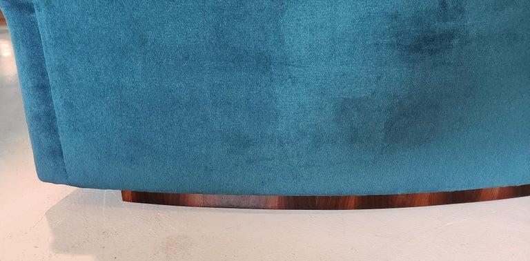 American Three Section Circular Sofa by Milo Baughman for Thayer Coggin For Sale
