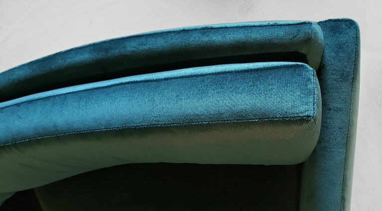 20th Century Three Section Circular Sofa by Milo Baughman for Thayer Coggin For Sale