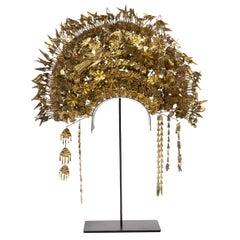 1960s Minangkabau Gilt Metal Bridal Headdress, Sumatra, Indonesia