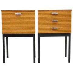 1960s Minimalist Bedside Tables, Czechoslovakia