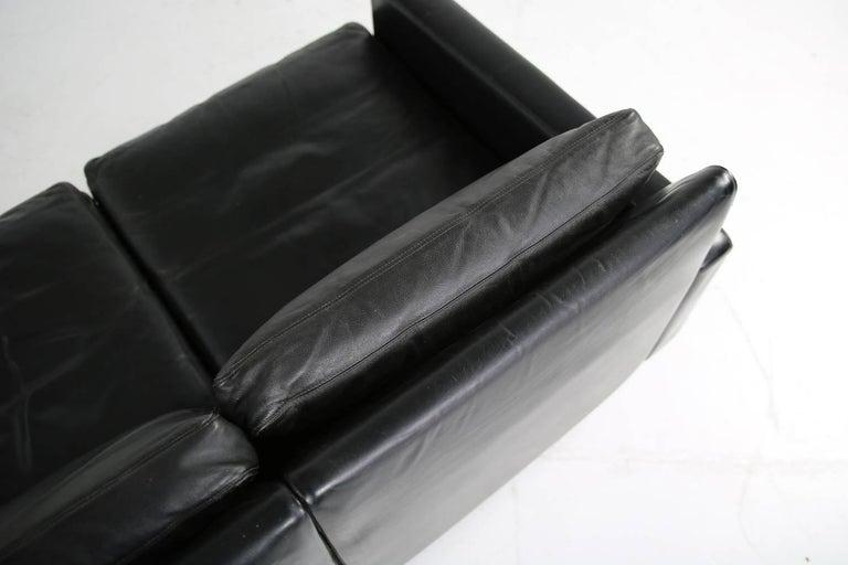 Modern 1960s Minimalist COR Conseta Modular System Leather Sofa F.W. Moller, Germany For Sale