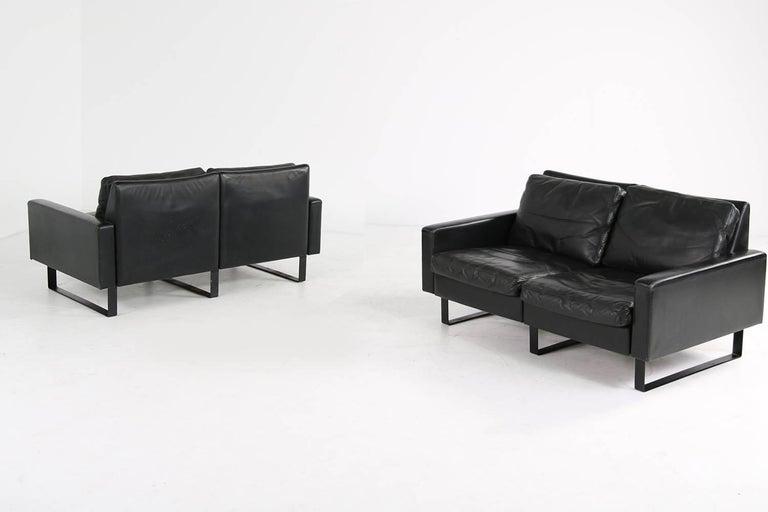 1960s Minimalist COR Conseta Modular System Leather Sofa F.W. Moller, Germany For Sale 1