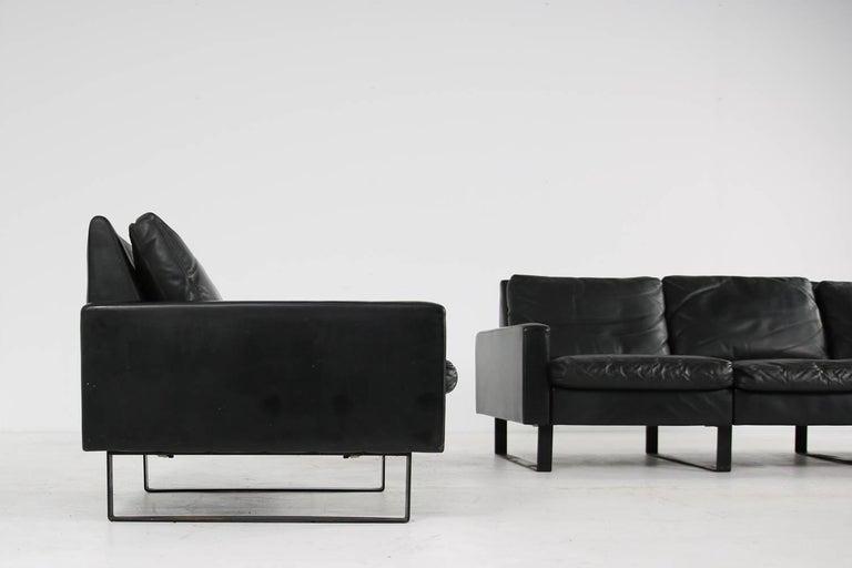 1960s Minimalist COR Conseta Modular System Leather Sofa F.W. Moller, Germany For Sale 2