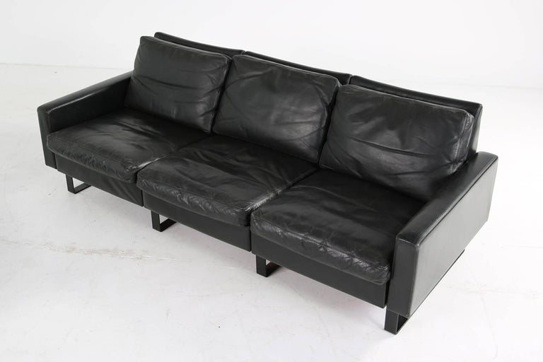 1960s Minimalist COR Conseta Modular System Leather Sofa F.W. Moller, Germany For Sale 3