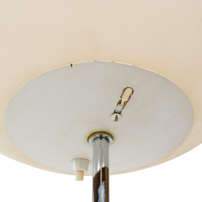 1960s Minimalist Globe Floor Lamp in the Style of Paul Mayen for Habitat In Good Condition For Sale In Sagaponack, NY
