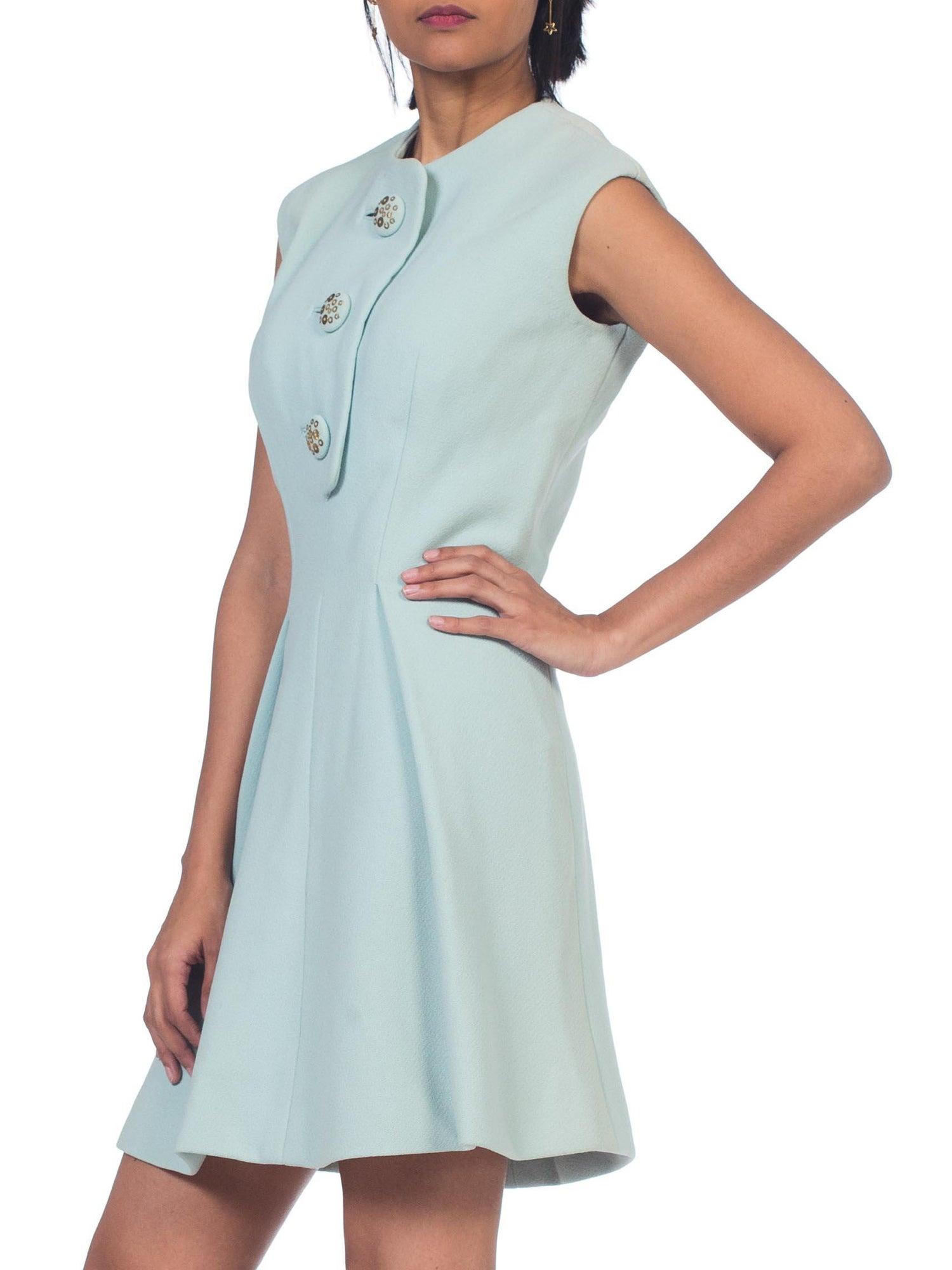 ae42fa8dfffe 1960s Mint Green Pauline Trigere Mod Mini Dress For Sale at 1stdibs