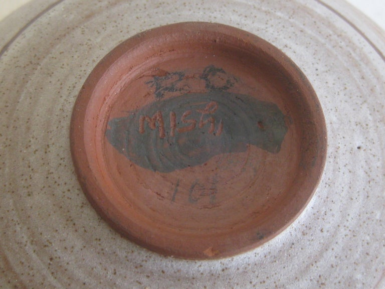 1960s Mishi Nojima California Design Studio Pottery Low Bowl Berkeley Artist For Sale 5