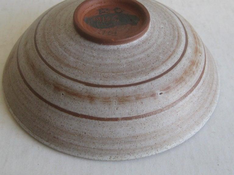 1960s Mishi Nojima California Design Studio Pottery Low Bowl Berkeley Artist For Sale 4