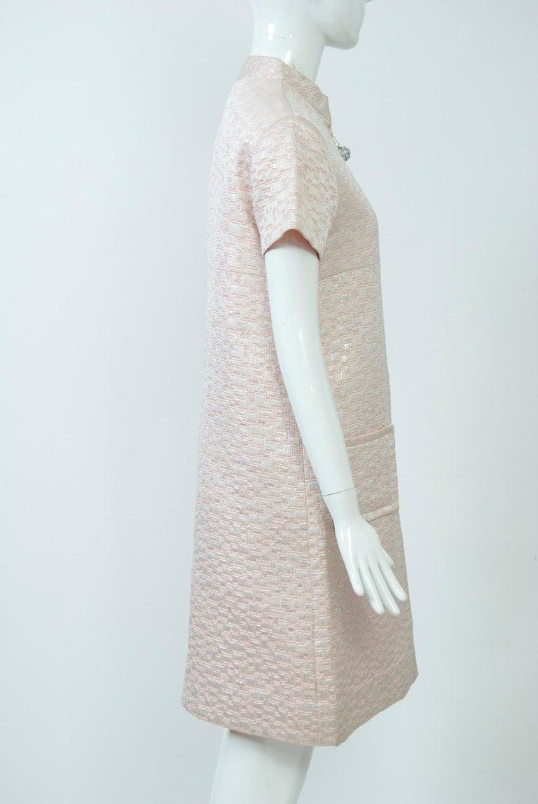 Women's 1960s Mod Brocade Dress, Don Sophisticates For Sale