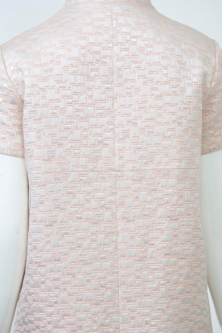 1960s Mod Brocade Dress, Don Sophisticates For Sale 2