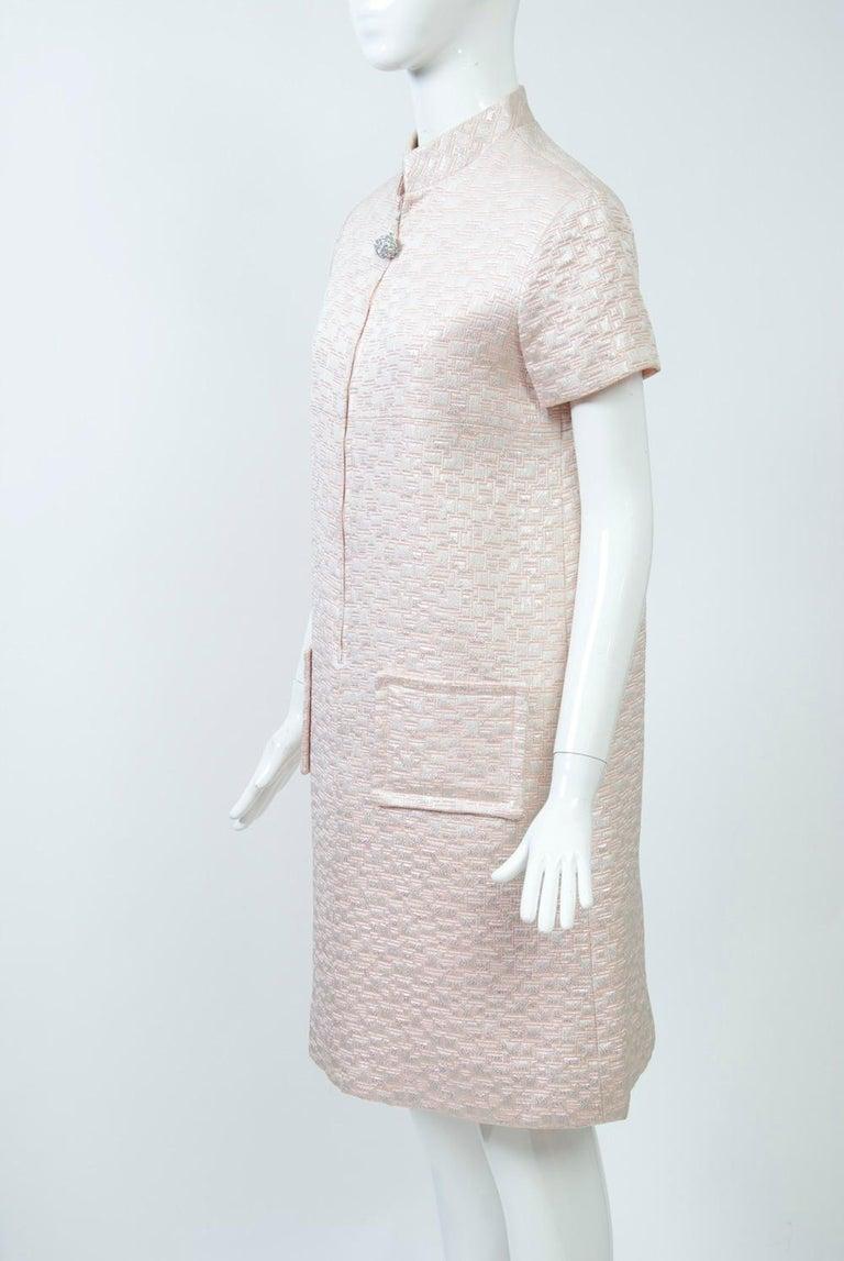 1960s Mod Brocade Dress, Don Sophisticates For Sale 3