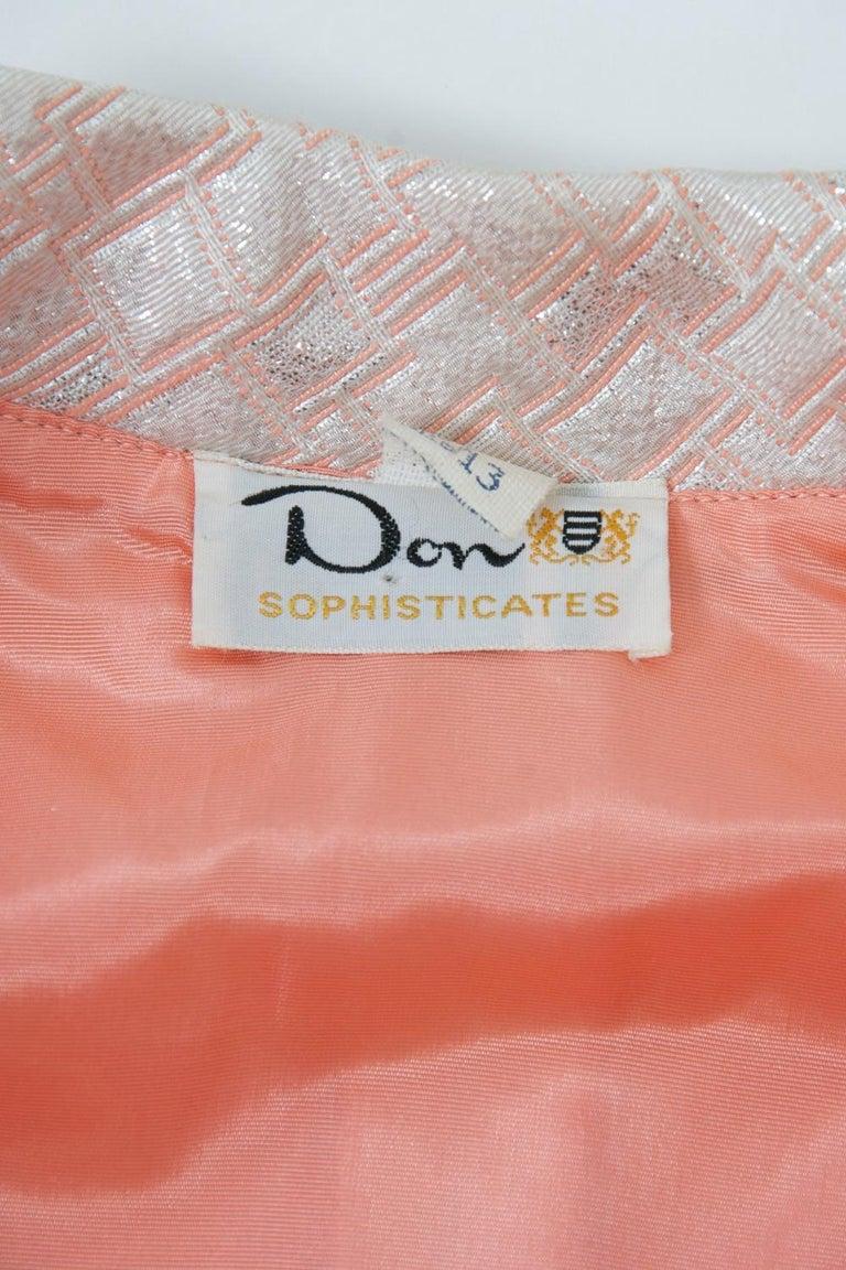 1960s Mod Brocade Dress, Don Sophisticates For Sale 5