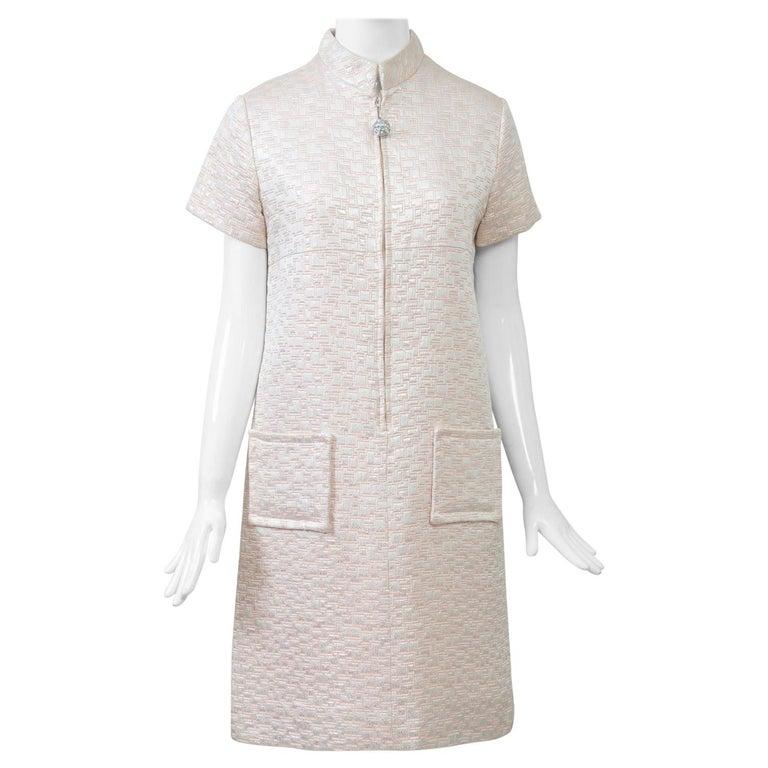 1960s Mod Brocade Dress, Don Sophisticates For Sale