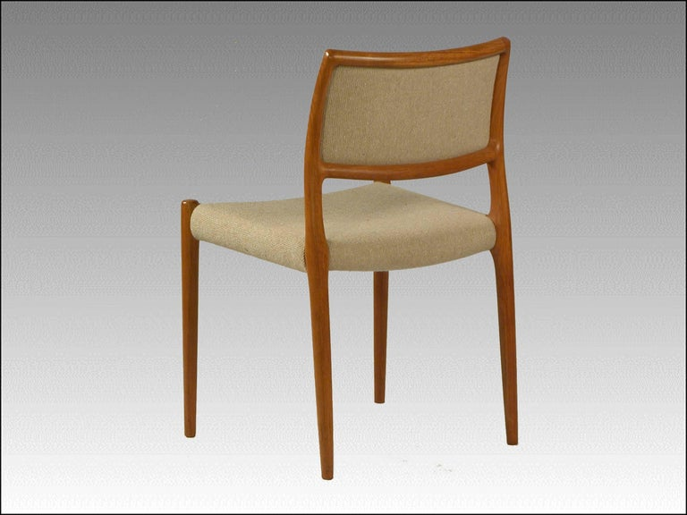 Scandinavian Modern 1960s Model 80 Teak Dining Chair by Niels Otto Møller For Sale