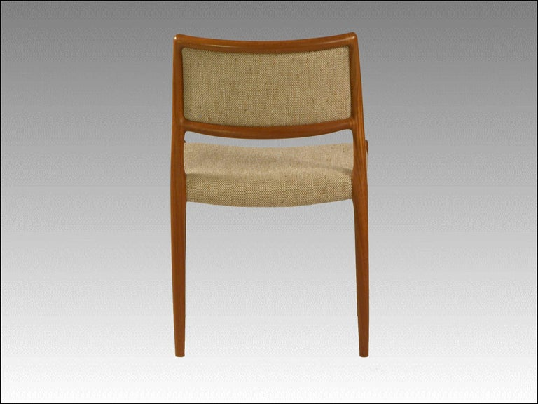 Danish 1960s Model 80 Teak Dining Chair by Niels Otto Møller For Sale