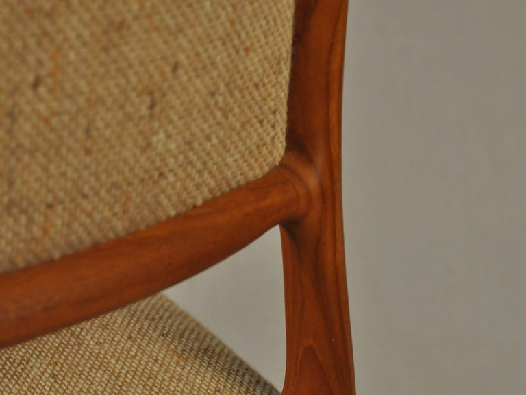 1960s Model 80 Teak Dining Chair by Niels Otto Møller In Good Condition For Sale In Knebel, DK