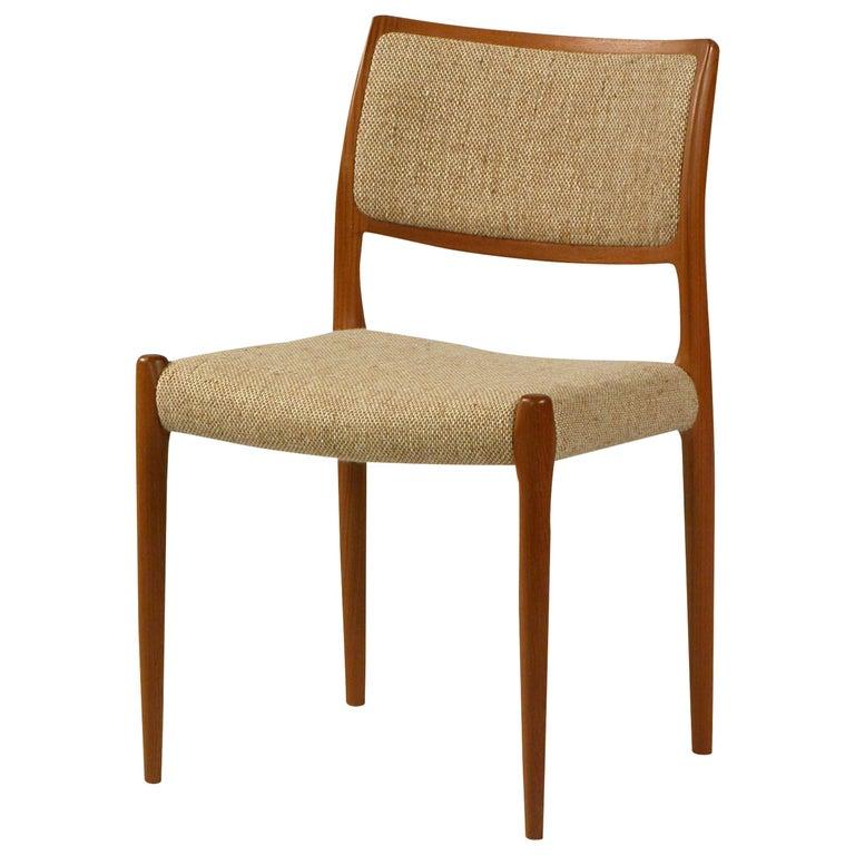 1960s Model 80 Teak Dining Chair by Niels Otto Møller For Sale