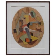 1960s Modern Abstract Artwork
