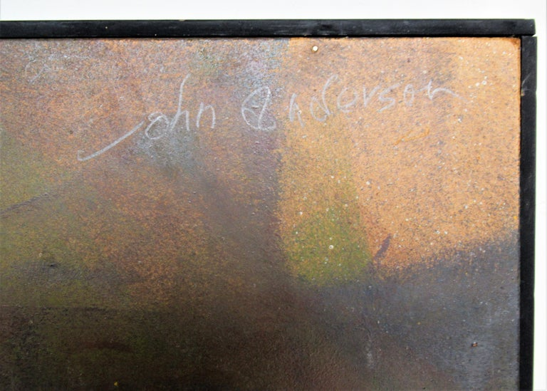 Mid-Century Modern 1960s Modern Abstract Painting by John Anderson For Sale