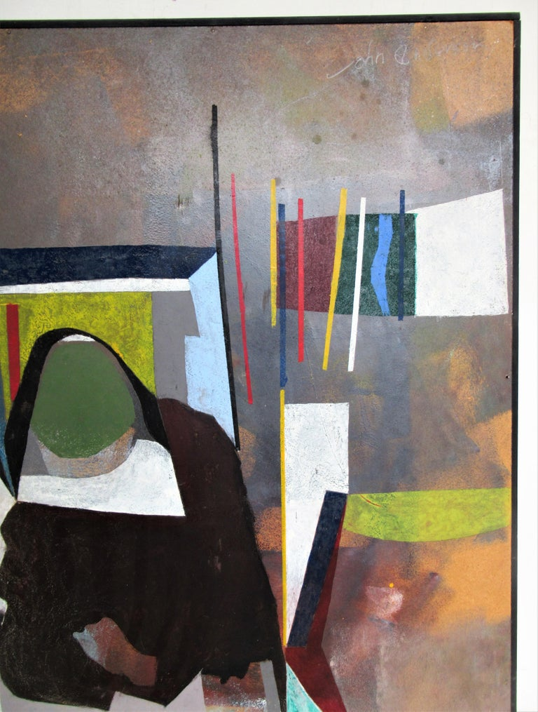 North American 1960s Modern Abstract Painting by John Anderson For Sale