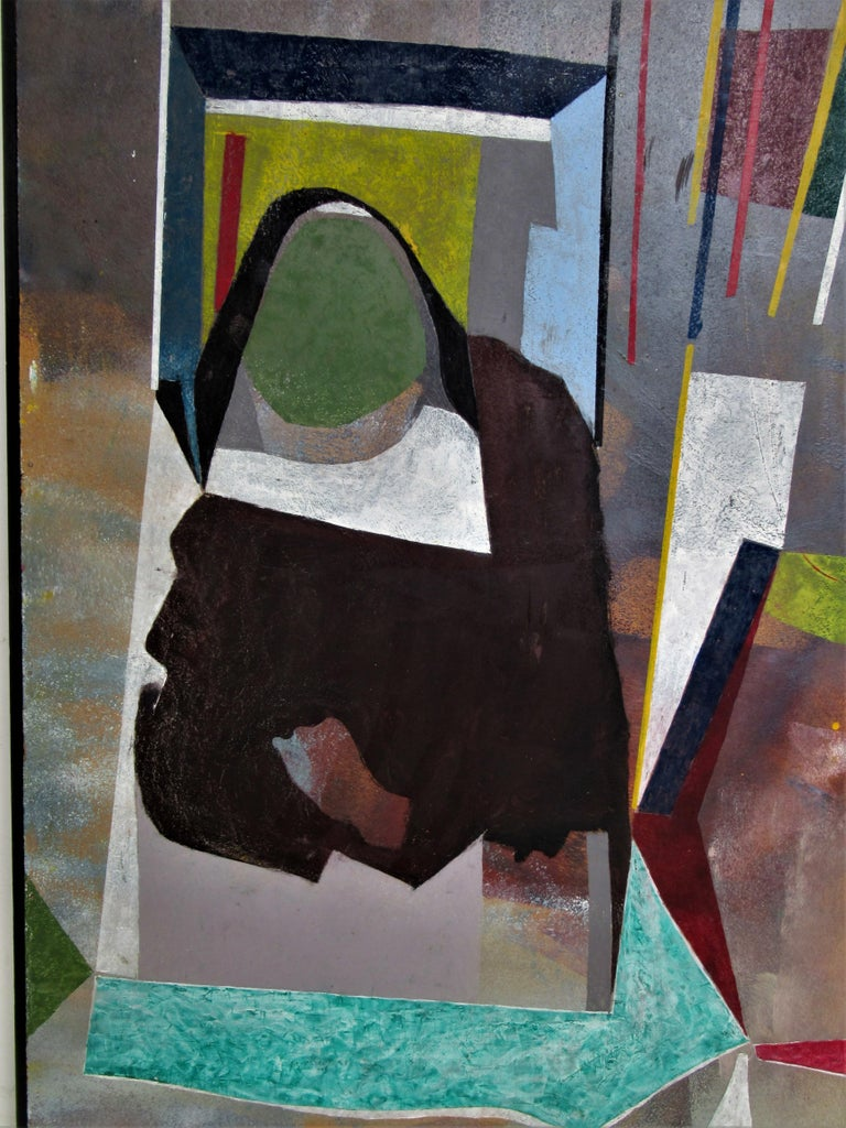 Hand-Painted 1960s Modern Abstract Painting by John Anderson For Sale