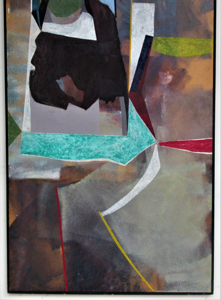 1960s Modern Abstract Painting by John Anderson In Good Condition For Sale In Rochester, NY