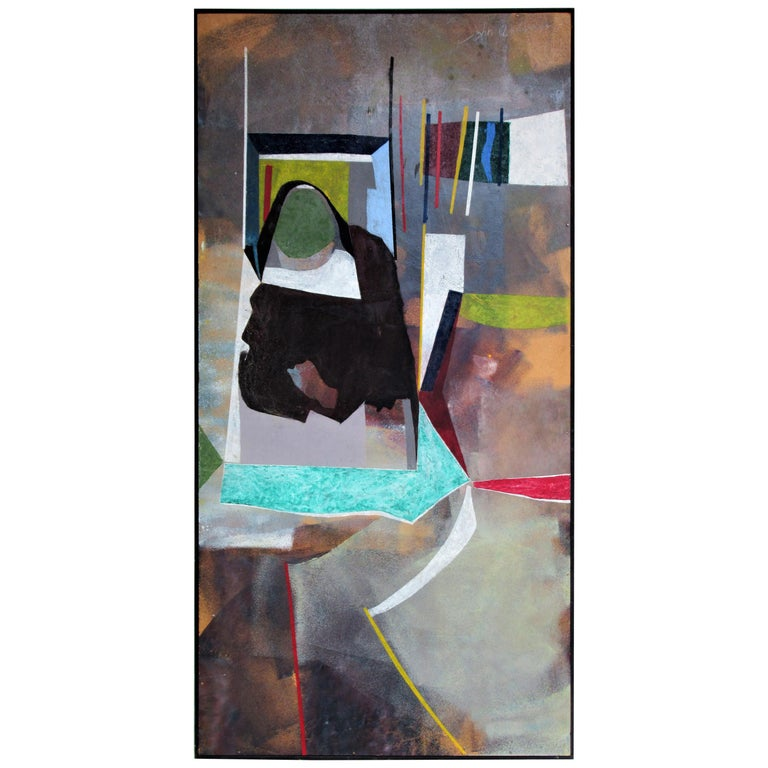 1960s Modern Abstract Painting by John Anderson For Sale