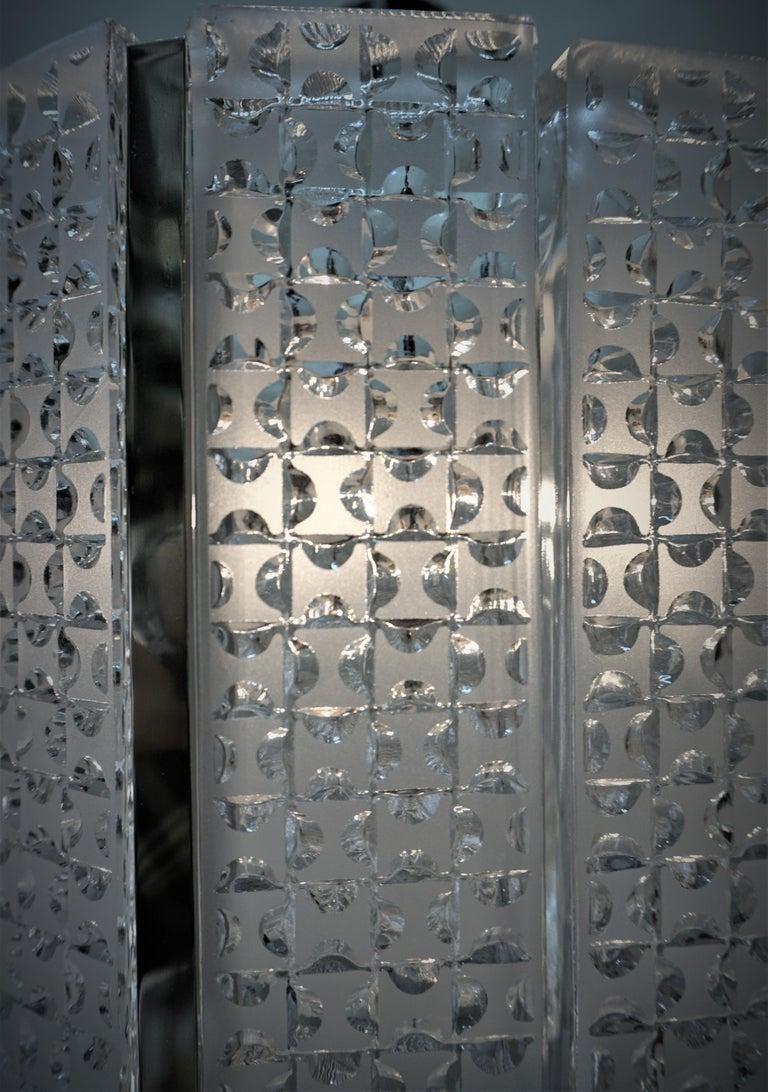 1960s Modern Glass Chandelier by Kaiser Leuchten For Sale 1