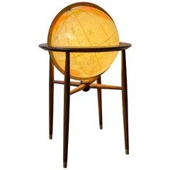 1960s Modernist Mad Men Illuminated Glow Globe