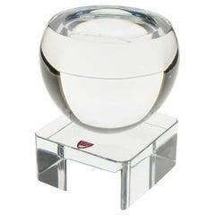 1960s Modernist Swedish Orrefors Crystal Bowl Sculpture