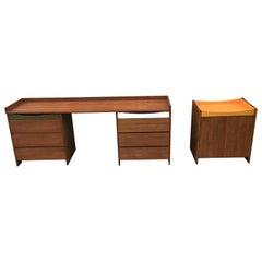 1960s Modular Desk Summa/Conran Storage Cabinet/1960s Chest of Draws
