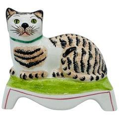 1960s Mottahedeh Italian Ceramic Cat Sculpture