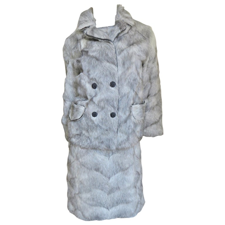1960s Mr G Fur Dress and Jacket For Sale