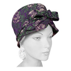 1960s Mr. John Purple Turban Hat