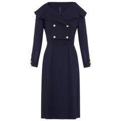 1960s Mr Mort Nautical Style Navy Dress and Jacket Suit