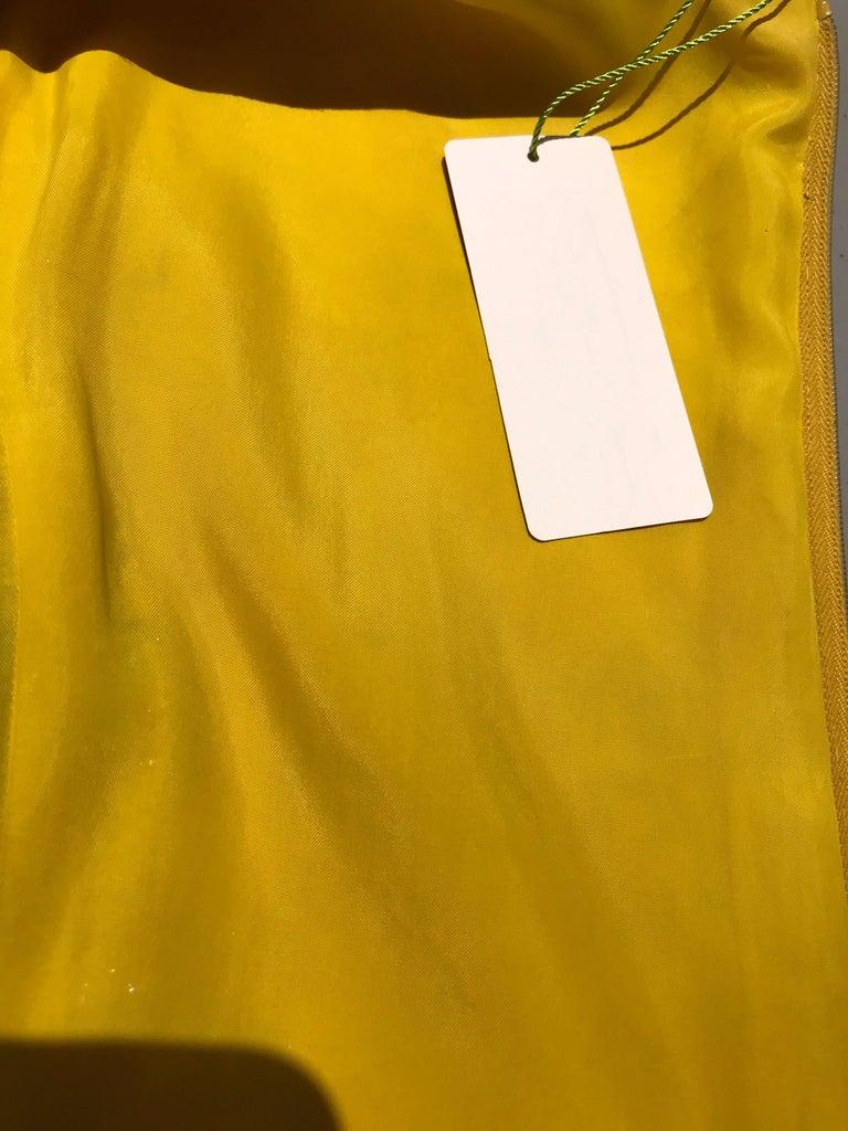 1960s Multi Color Metallic Silk Brocade Dress with Embellishment For Sale 9