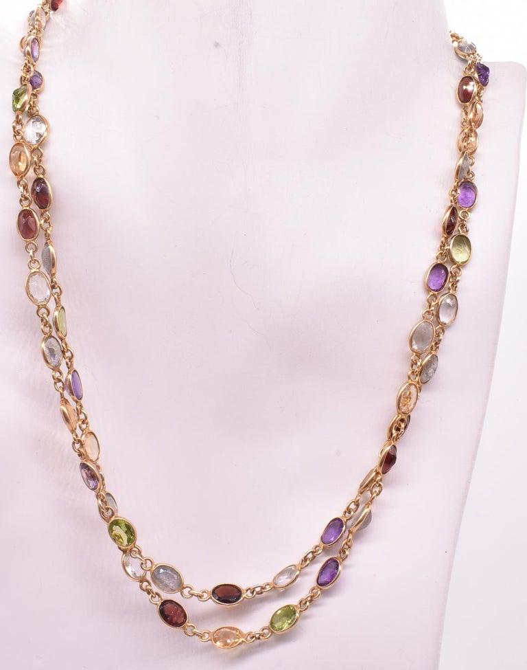 Post-War 1960s Multi Gemstone Necklace