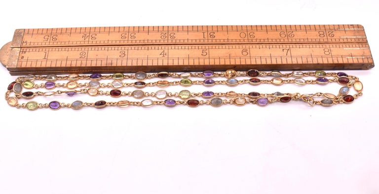 1960s Multi Gemstone Necklace In Excellent Condition In Baltimore, MD