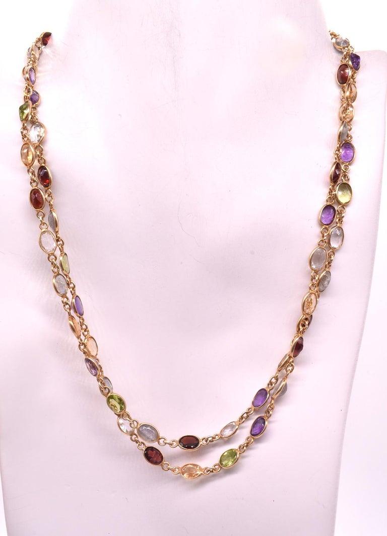 1960s Multi Gemstone Necklace 1