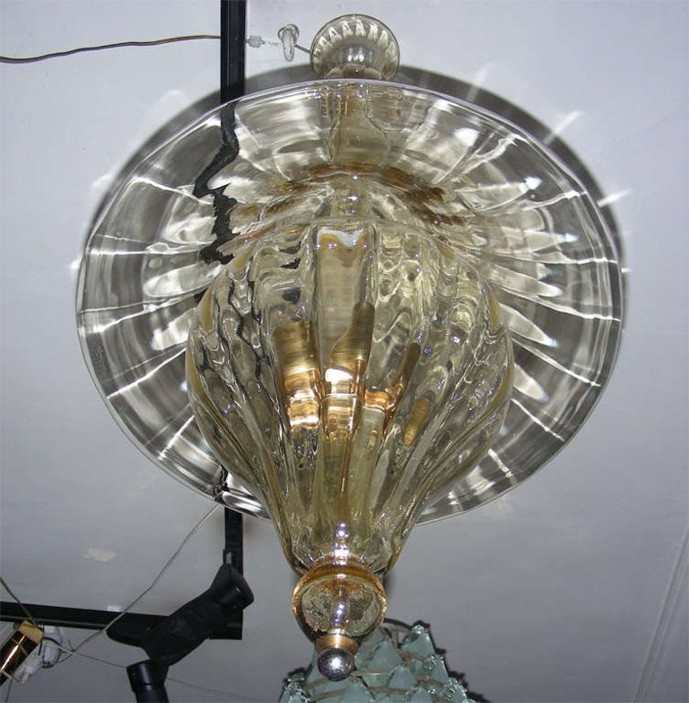 1960s Murano Glass Lantern by Venini In Fair Condition For Sale In Paris, FR
