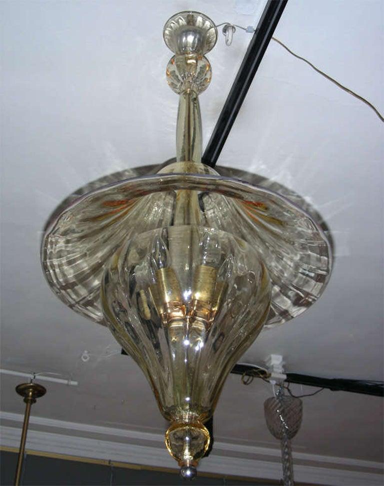 1960s Murano Glass Lantern by Venini For Sale 1