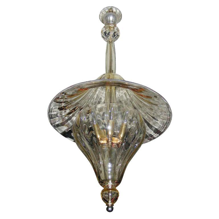 1960s Murano Glass Lantern by Venini For Sale