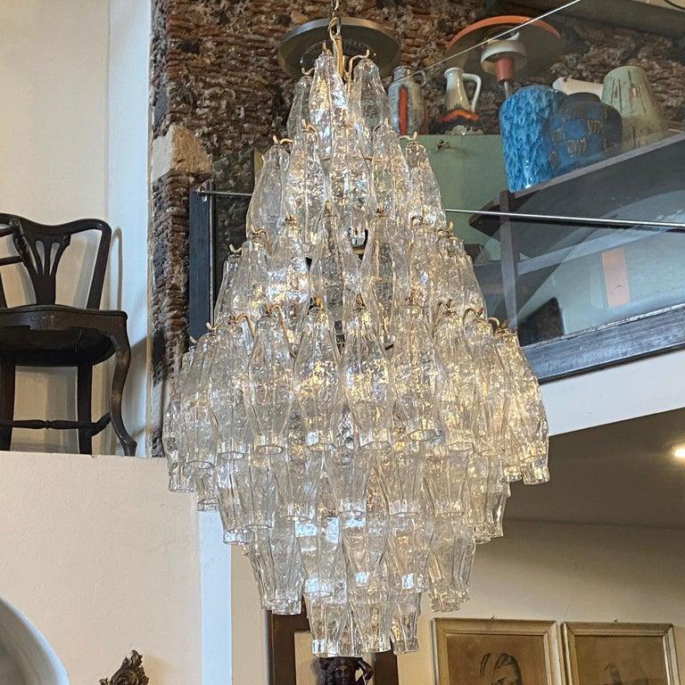 1960s Murano Glass Poliedri Chandelier in the Manner of Carlo Scarpa 3