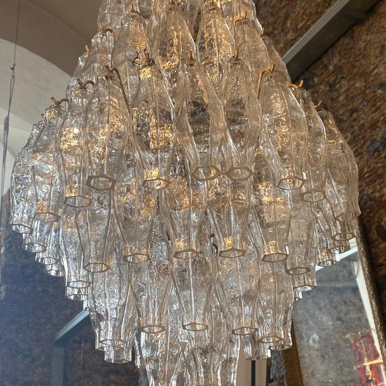 1960s Murano Glass Poliedri Chandelier in the Manner of Carlo Scarpa In Good Condition In Aci Castello, IT