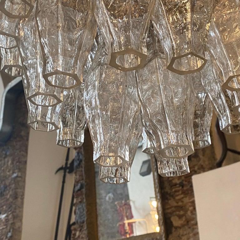 20th Century 1960s Murano Glass Poliedri Chandelier in the Manner of Carlo Scarpa