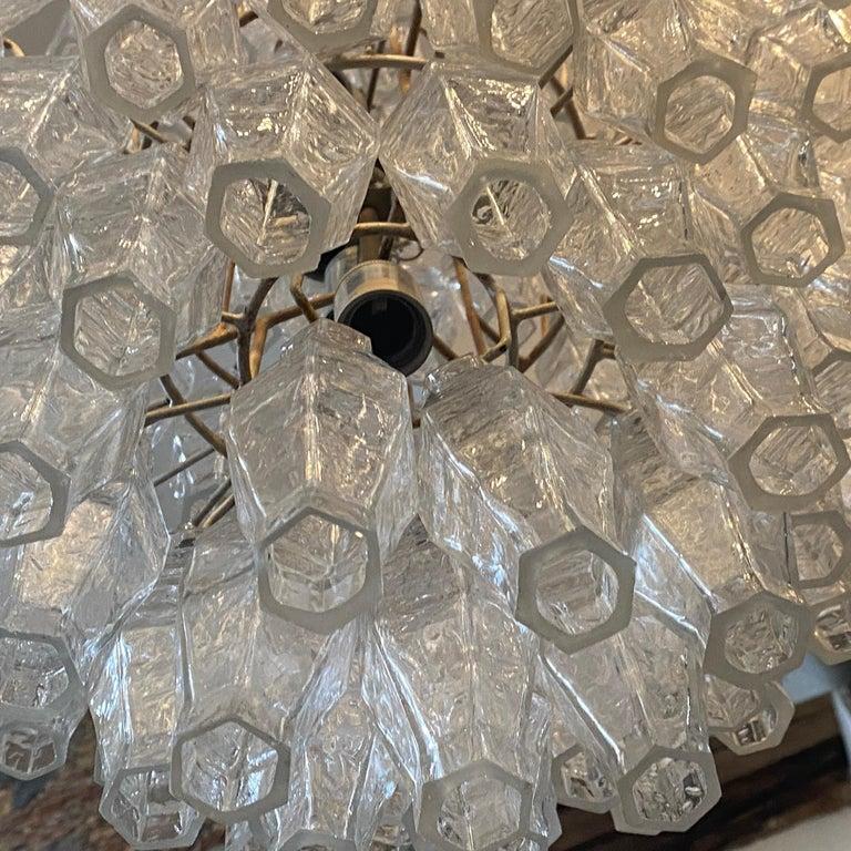 1960s Murano Glass Poliedri Chandelier in the Manner of Carlo Scarpa 2