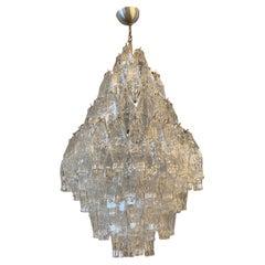 1960s Murano Glass Poliedri Chandelier in the Manner of Carlo Scarpa