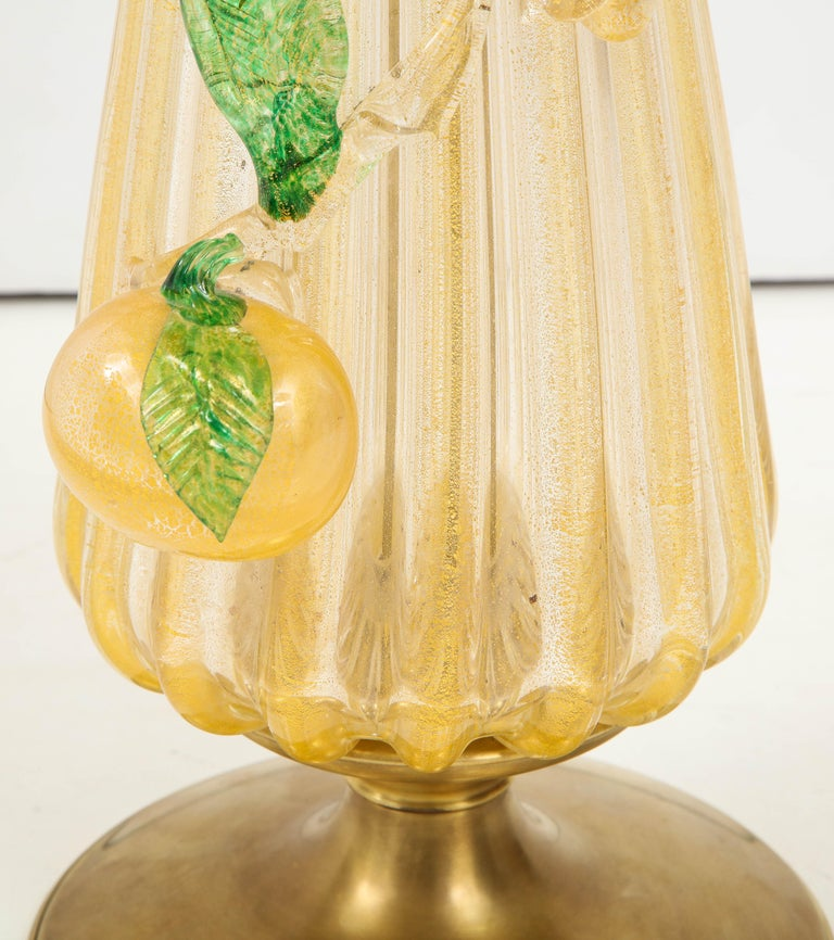 Mid-20th Century 1960s Murano Glass Table Lamp For Sale