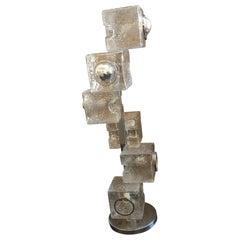 """1960s Murano """"Ice Glass"""" Floor Lamp"""